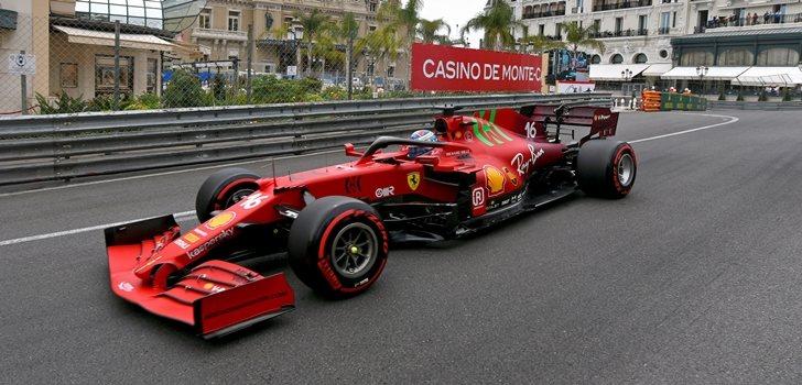 Leclerc, en la Qualy del GP de Mónaco