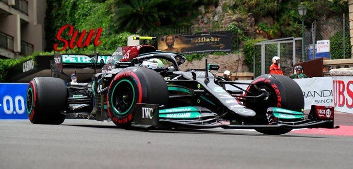 Bottas, durante el GP de Mercedes