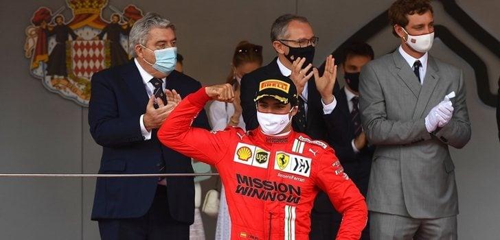 Sainz, en el podio de Montecarlo