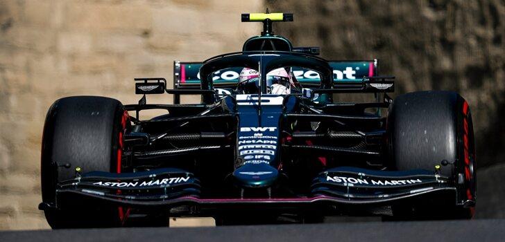 Vettel, en la Qualy de Azerbaiyán 2021