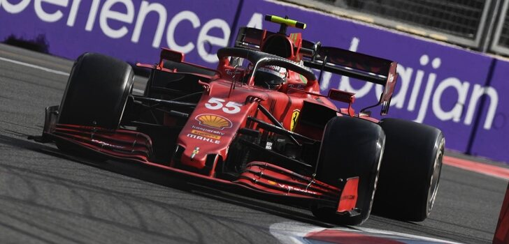 Sainz, en el GP de Azerbaiyán 2021