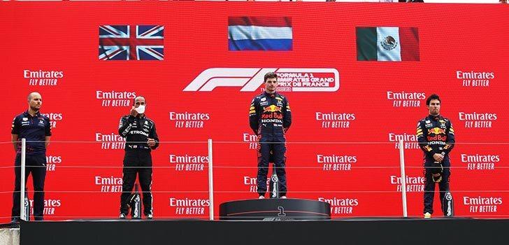 Honda, eufóricos con el podio de Verstappen y Pérez