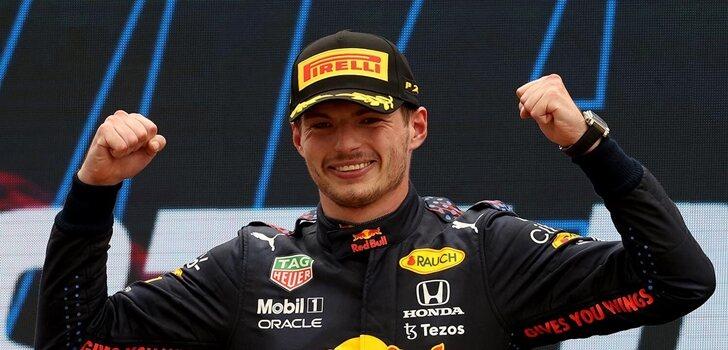 Verstappen celebra su triunfo en Francia