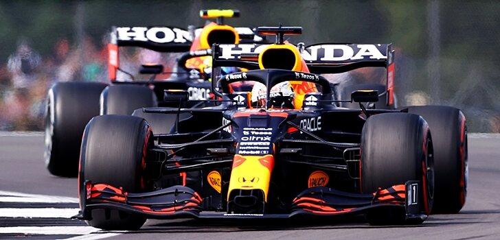 Verstappen y Pérez, en la Qualy de Silverstone
