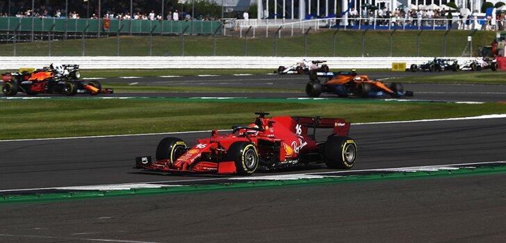 Leclerc, 4º en el sprint de Silverstone