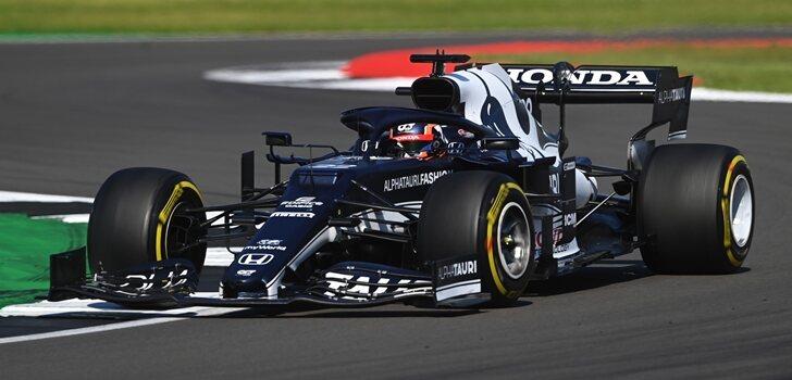 Tsunoda, en el GP de Gran Bretaña 2021