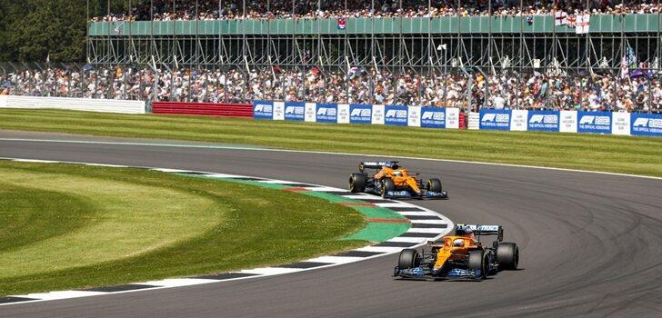 Los McLaren, en el GP de Gran Bretaña 2021