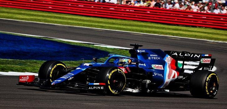 Alonso, en el GP de Gran Bretaña 2021