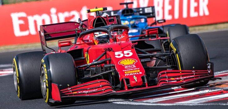 Sainz, por delante de Alonso en Hungría