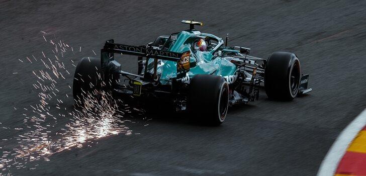 Vettel, en los Libres de Spa