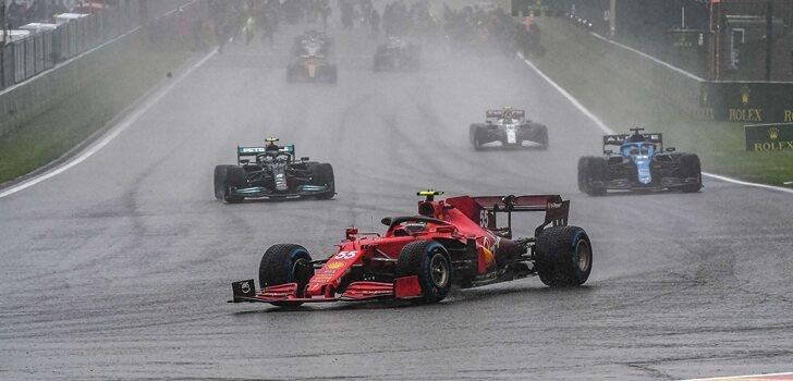 Sainz, en el GP de Bélgica 2021