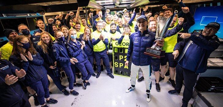 Williams celebra el podio de Russell en Spa
