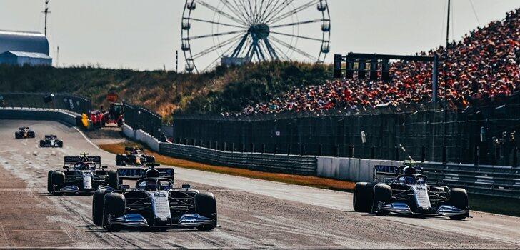 Russell y Latifi, en el GP de los Países Bajos 2021