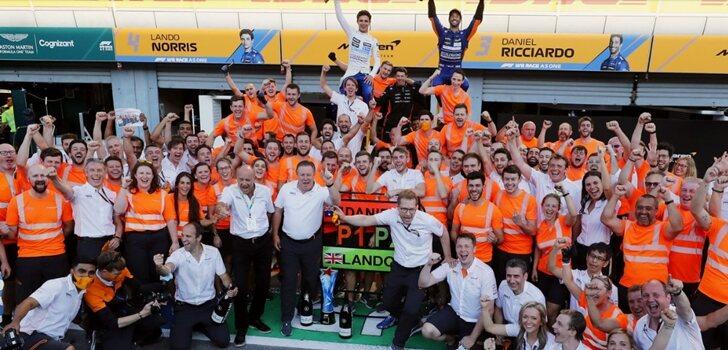 McLaren celebra su doblete en Monza