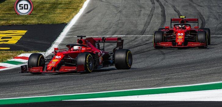 Leclerc y Sainz, en el GP de Italia 2021