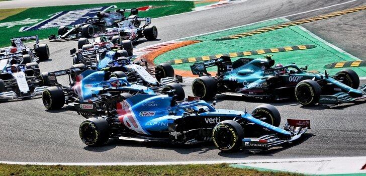 Los monoplazas de F1, en Italia