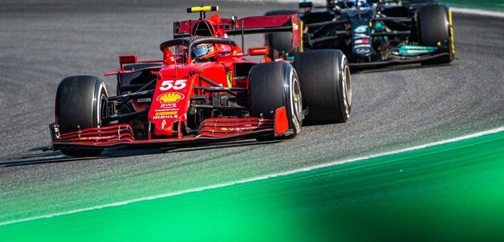 Sainz, por delante de Bottas en Italia