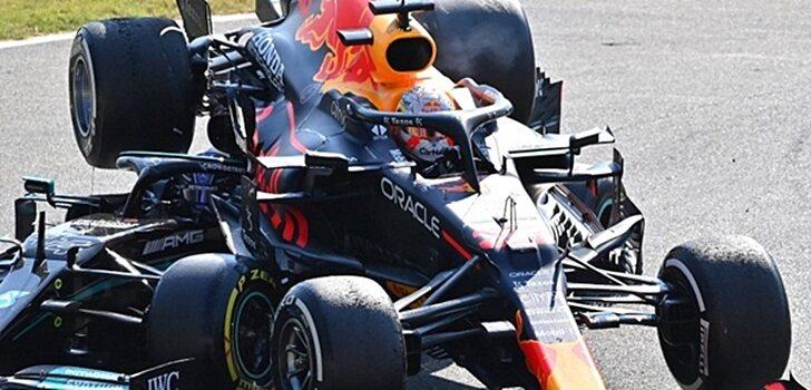 accidente entre Verstappen y Hamilton en Monza