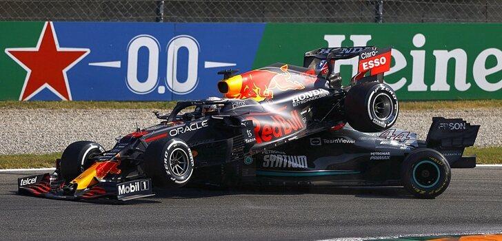 Verstappen y Hamilton en Monza