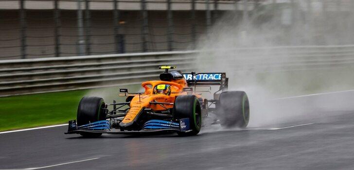 Norris, durante el GP de Rusia 2021