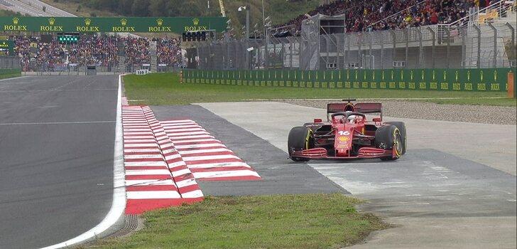 Leclerc, trompo en Q2