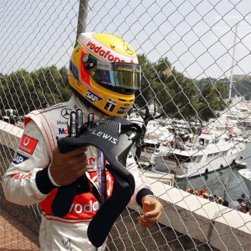Hamilton saldrá último en Mónaco