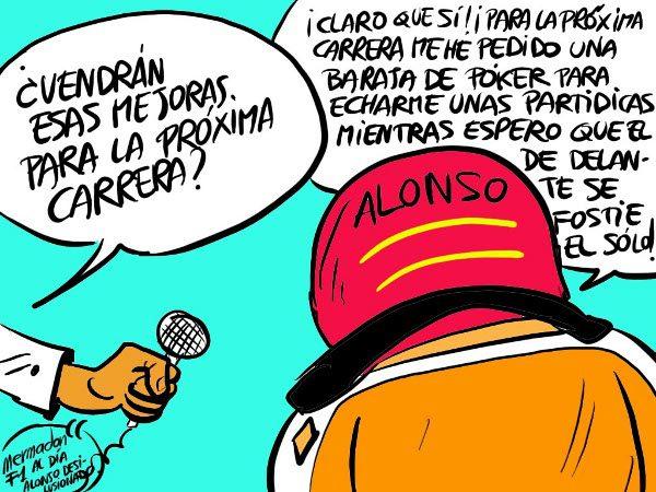 La viñeta (57): 'Alonso desilusionado'