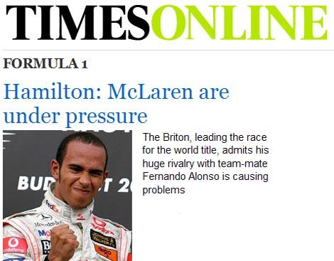 The Times, orgulloso de un Hamilton desobediente