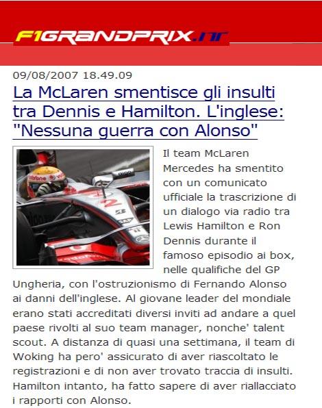 """McLaren dice que Hamilton no dijo """"fuck"""" por radio, aunque no desmiente otros insultos"""