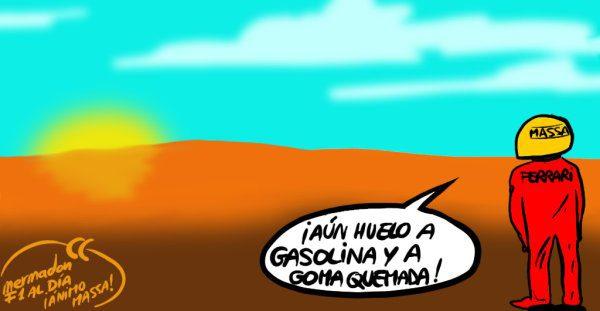 La viñeta (68): 'Aún huelo a gasolina y a goma quemada'