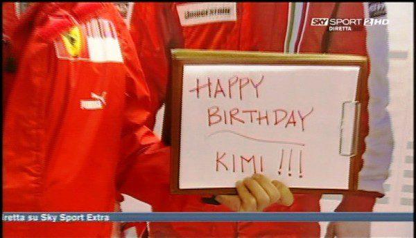 """""""Hyvää syntymäpäivää Kimi"""""""