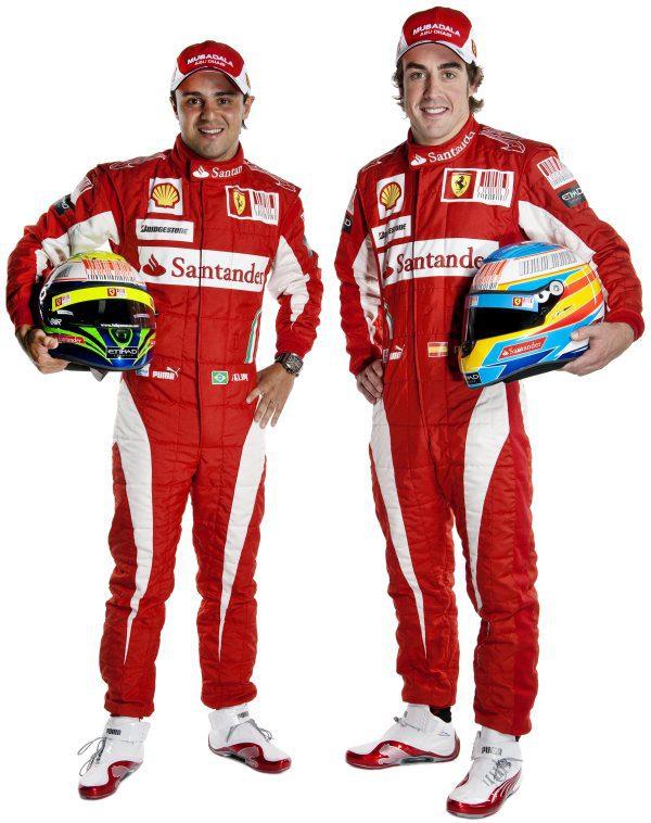 Imágenes oficiales de los pilotos de Ferrari