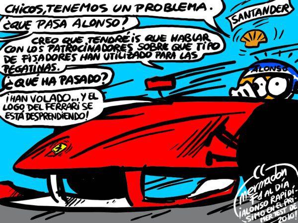La viñeta (87): 'Me autoarranco las pegatinas'