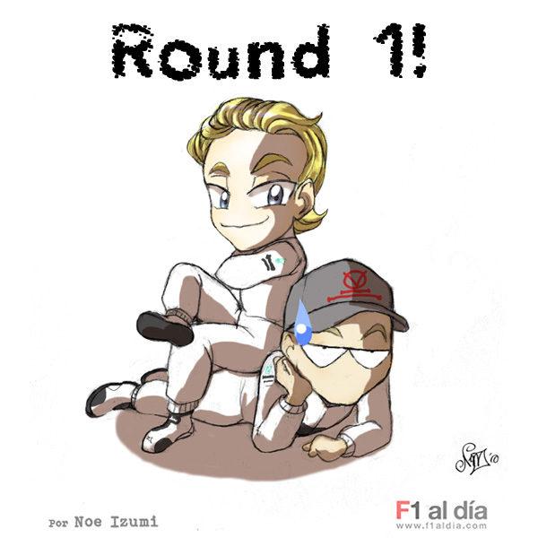 Los chibis (2): 'Rosberg se sitúa por delante de Schumacher'