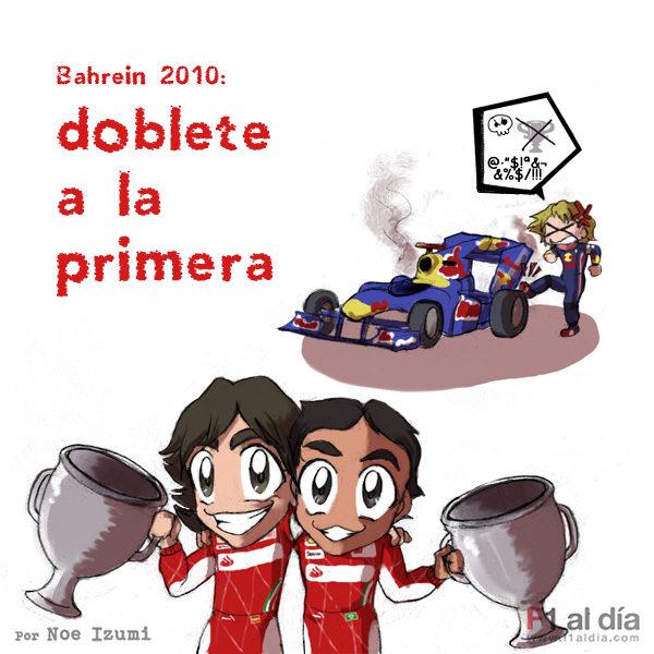 Los chibis (3): 'El primer doblete de Ferrari'