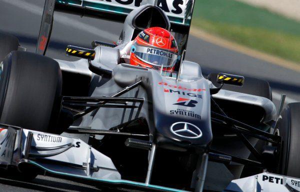 Schumacher tuvo problemas con los frenos