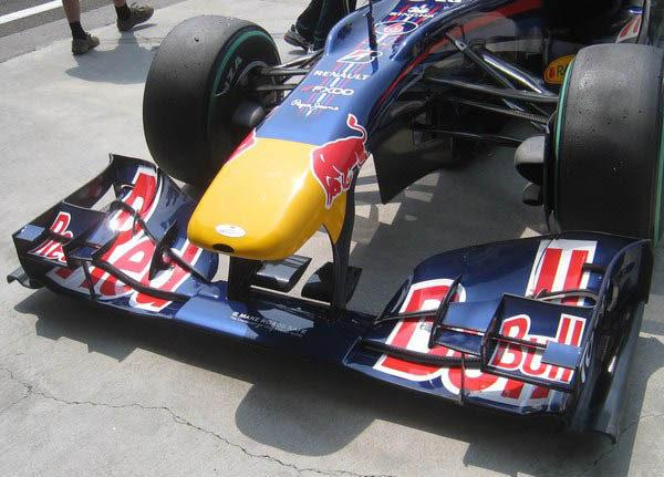 El polémico alerón delantero de Red Bull