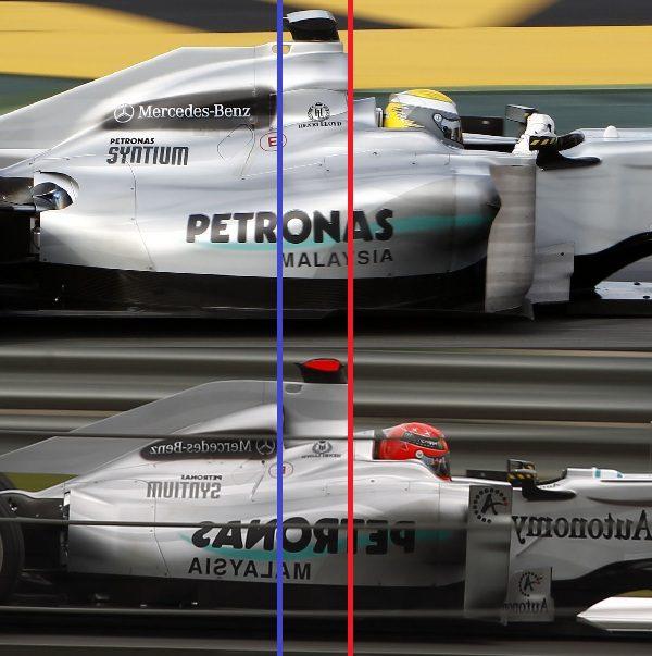 Mercedes GP W01 y su toma de aire