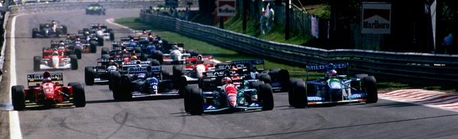 Damon Hill con el número 0
