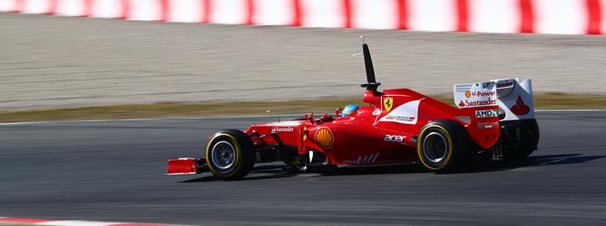 Alonso en el Ferrari F2012