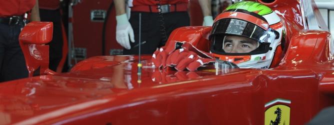 Sergio Pérez en Ferrari