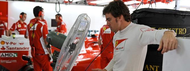 Fernando Alonso en Malasia