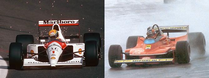 Ayrton Senna y Gilles Villeneuve
