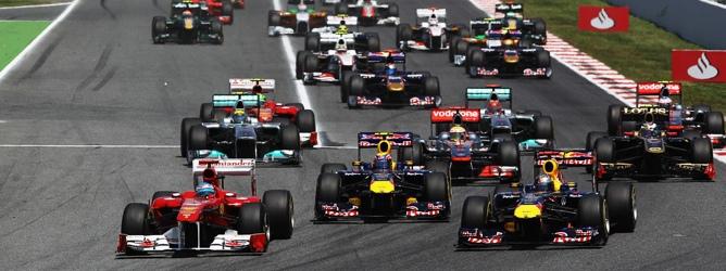 Salida GP de España 2011