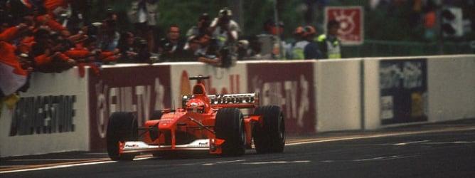 Schumacher en el GP de Japón 2000