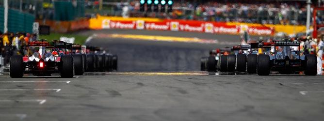 parrilla de salida F1