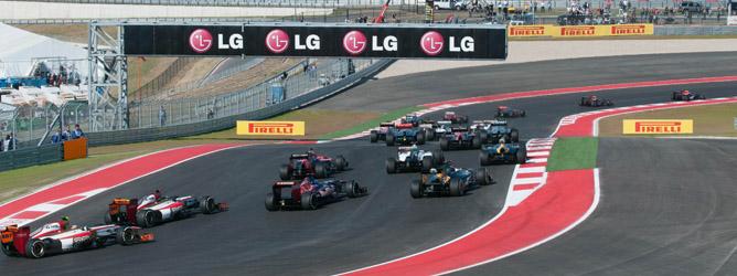 Parrilla de Fórmula 1 en Austin
