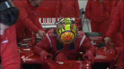 Rossi rueda con el F2008 en Barcelona (1/2)