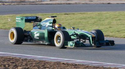 'Shakedown' del monoplaza de Lotus Racing