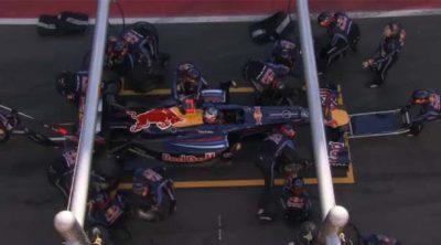 Red Bull practica 'pit-stops' en Barcelona